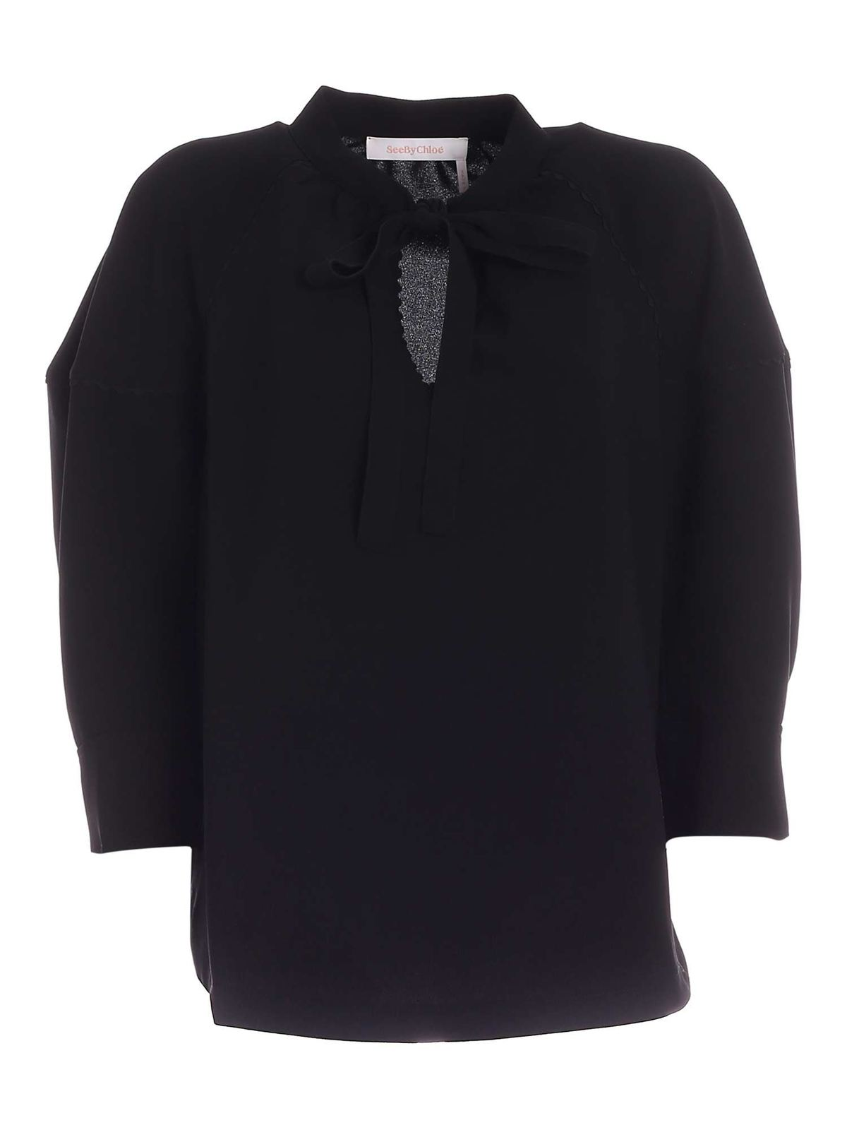 See By Chloé Blouses BOW BLOUSE IN BLACK
