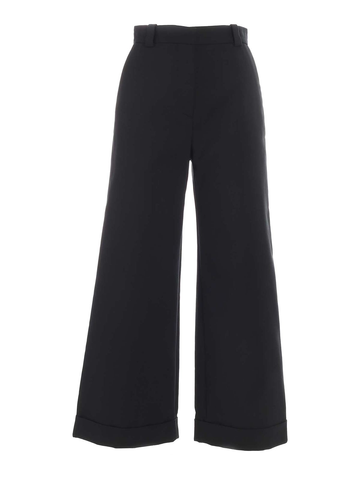 See By Chloé Cottons WIDE LEG PANTS IN GREEN
