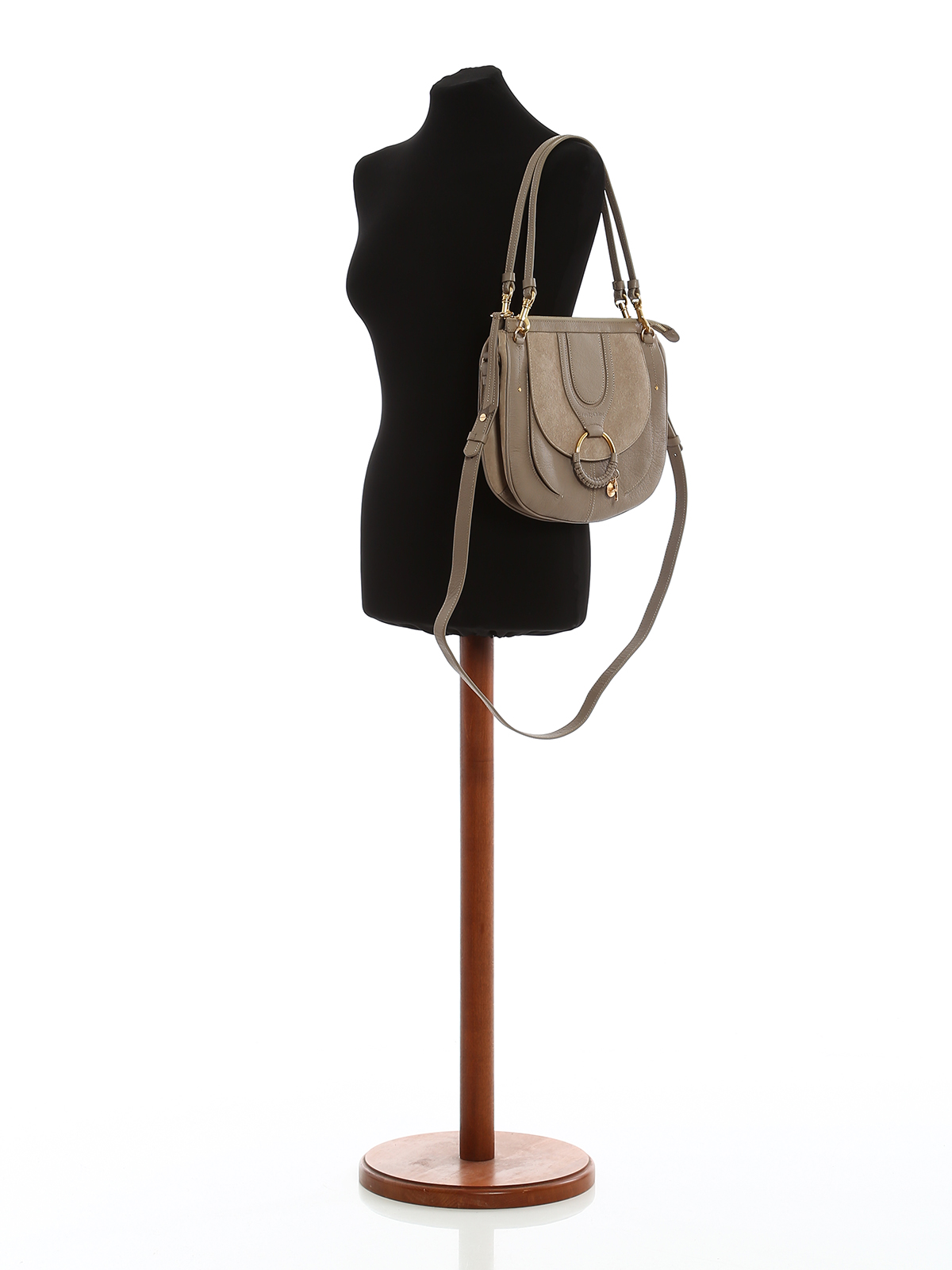 651ad74574 See by Chloé - Hana taupe grain leather small bag - shoulder bags ...