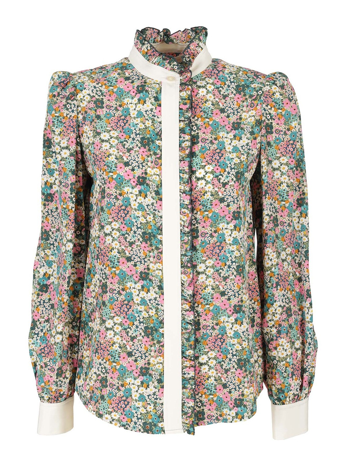 See By Chloé FLORAL PRINTED SILK SHIRT