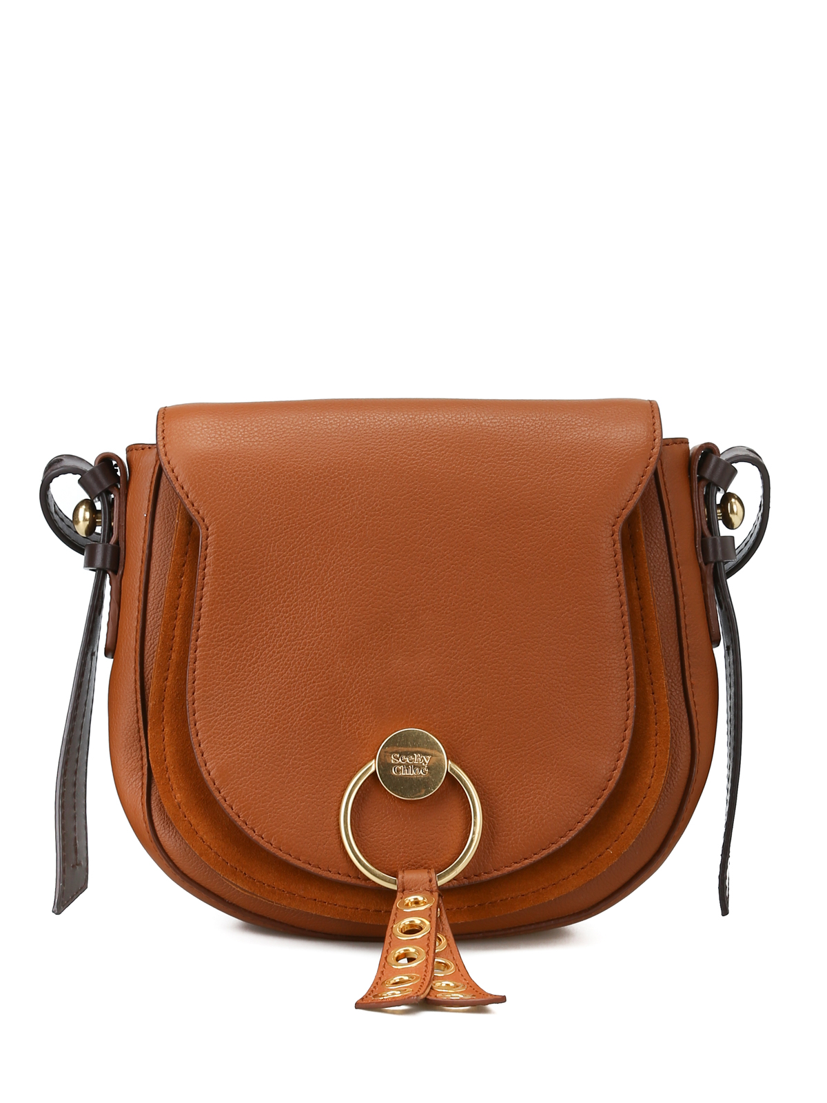 8876a65f20 See by Chloé - Lumir caramel leather medium saddle bag - shoulder ...