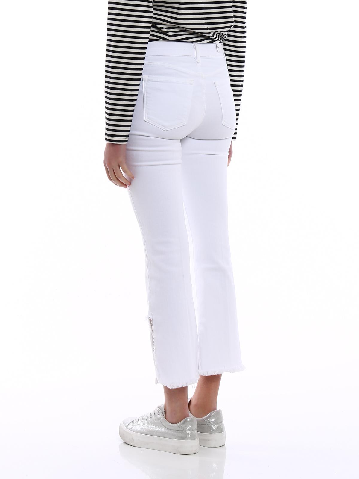 640ccb7704e21 J Brand - Selena white cropped bootcut jeans - bootcut jeans ...