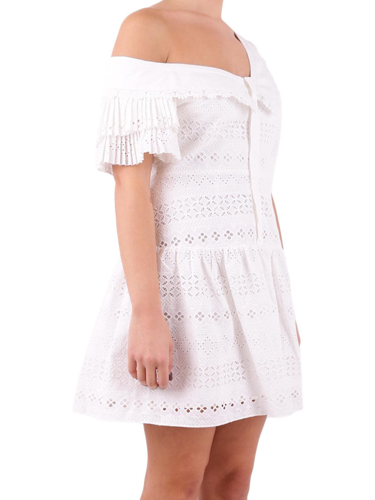 cdd29718d2acb3 Self Portrait  short dresses online - Broderie anglaise cotton dress