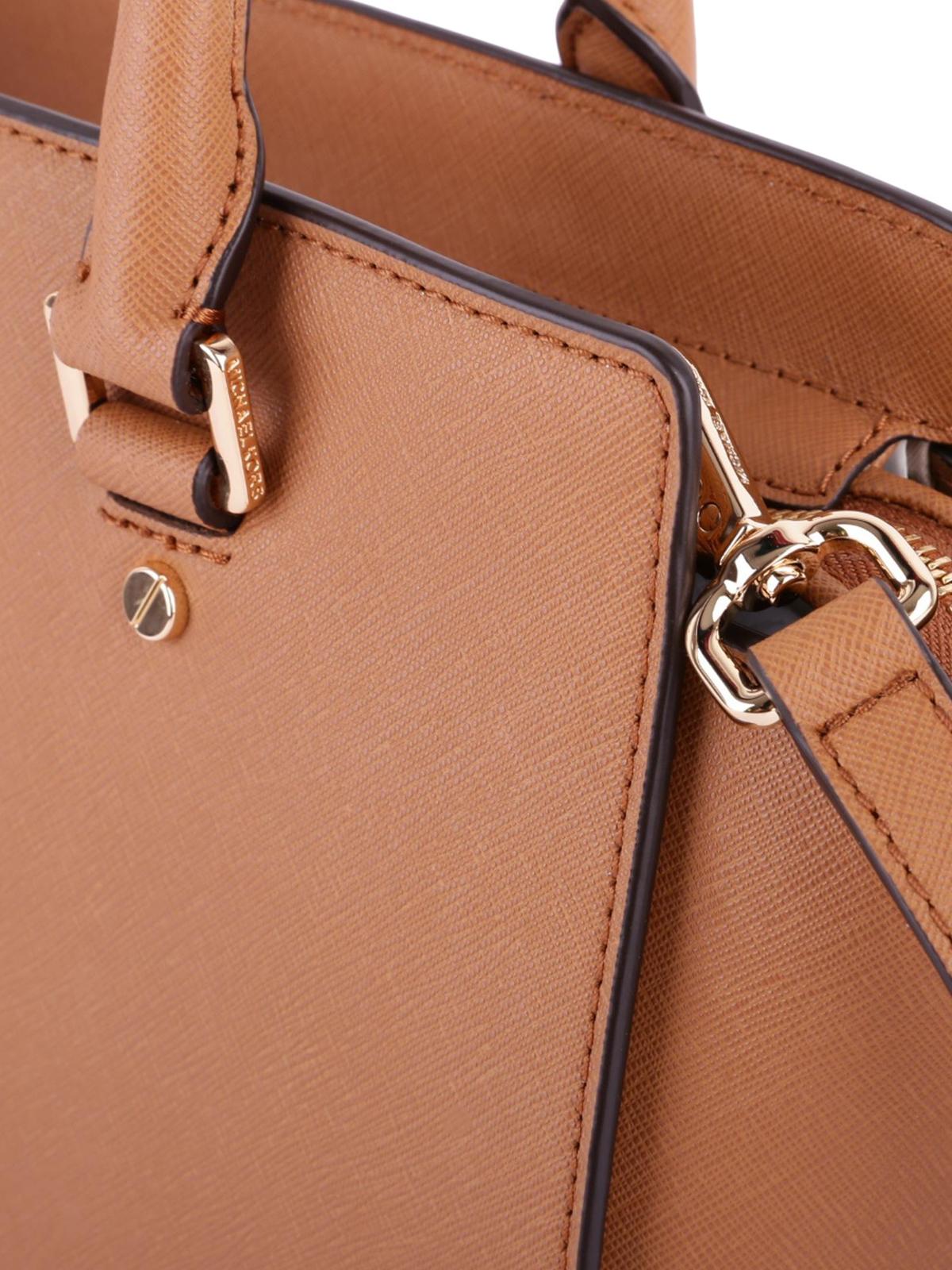 649db55add98 Selma medium acorn saffiano top zip tote shop online: MICHAEL KORS. MICHAEL  KORS: totes bags ...
