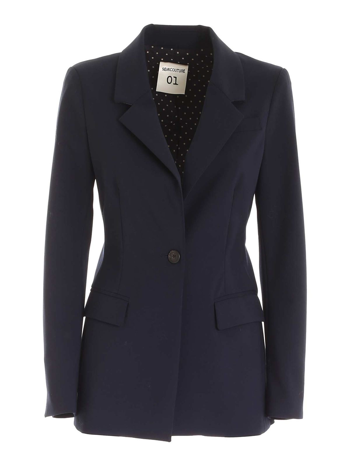 Semicouture CLARISSE JACKET IN BLUE