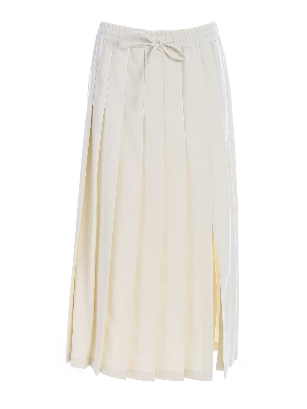 Semicouture MARLYN SKIRT IN IVORY COLOR