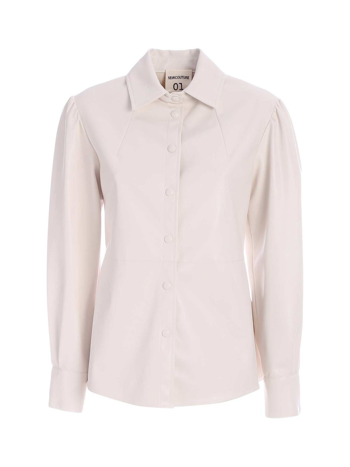 Semicouture ISABELLE SHIRT IN IVORY COLOR