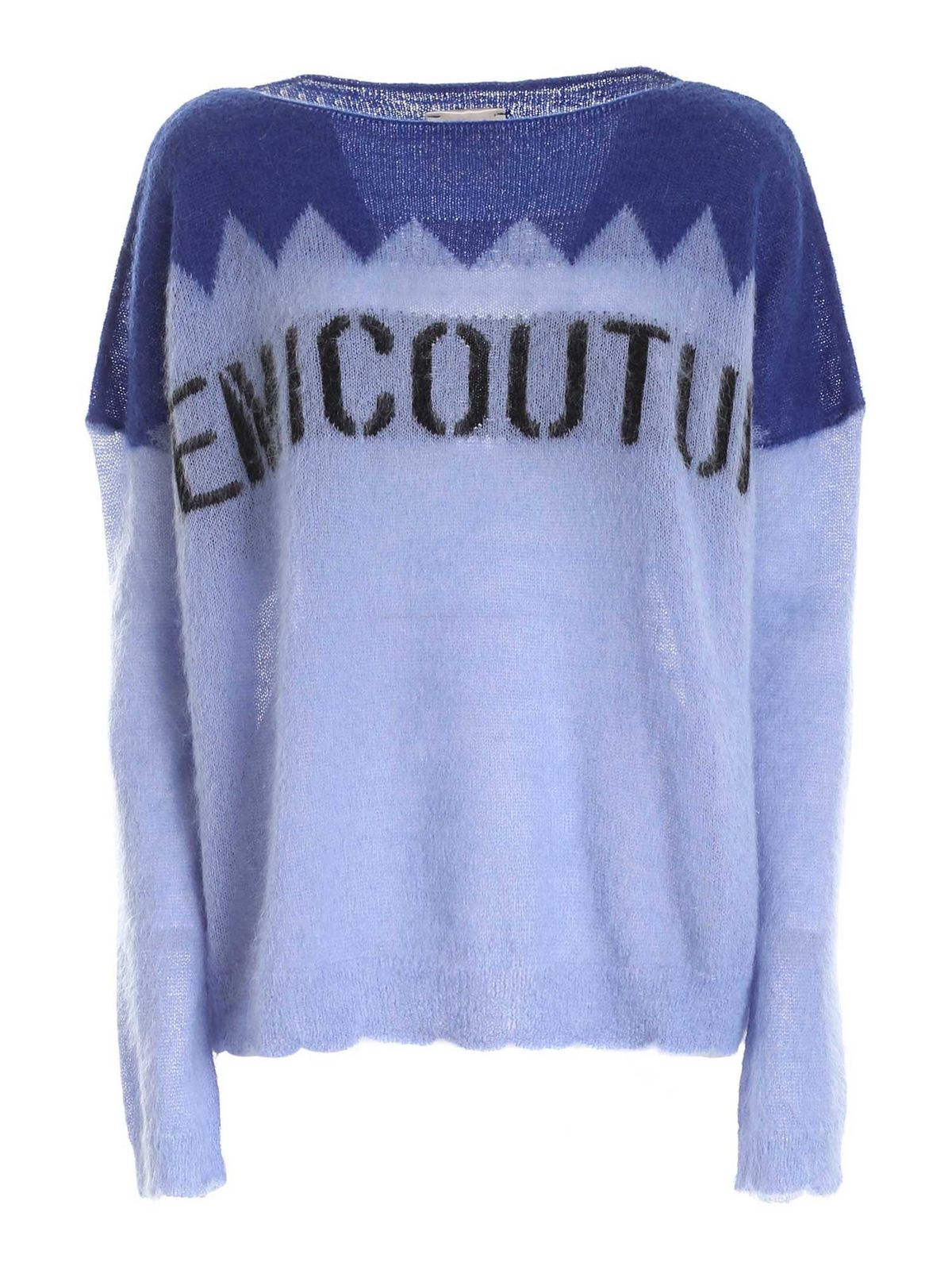 Semicouture GAELLE PULLOVER IN SHADES OF BLUE
