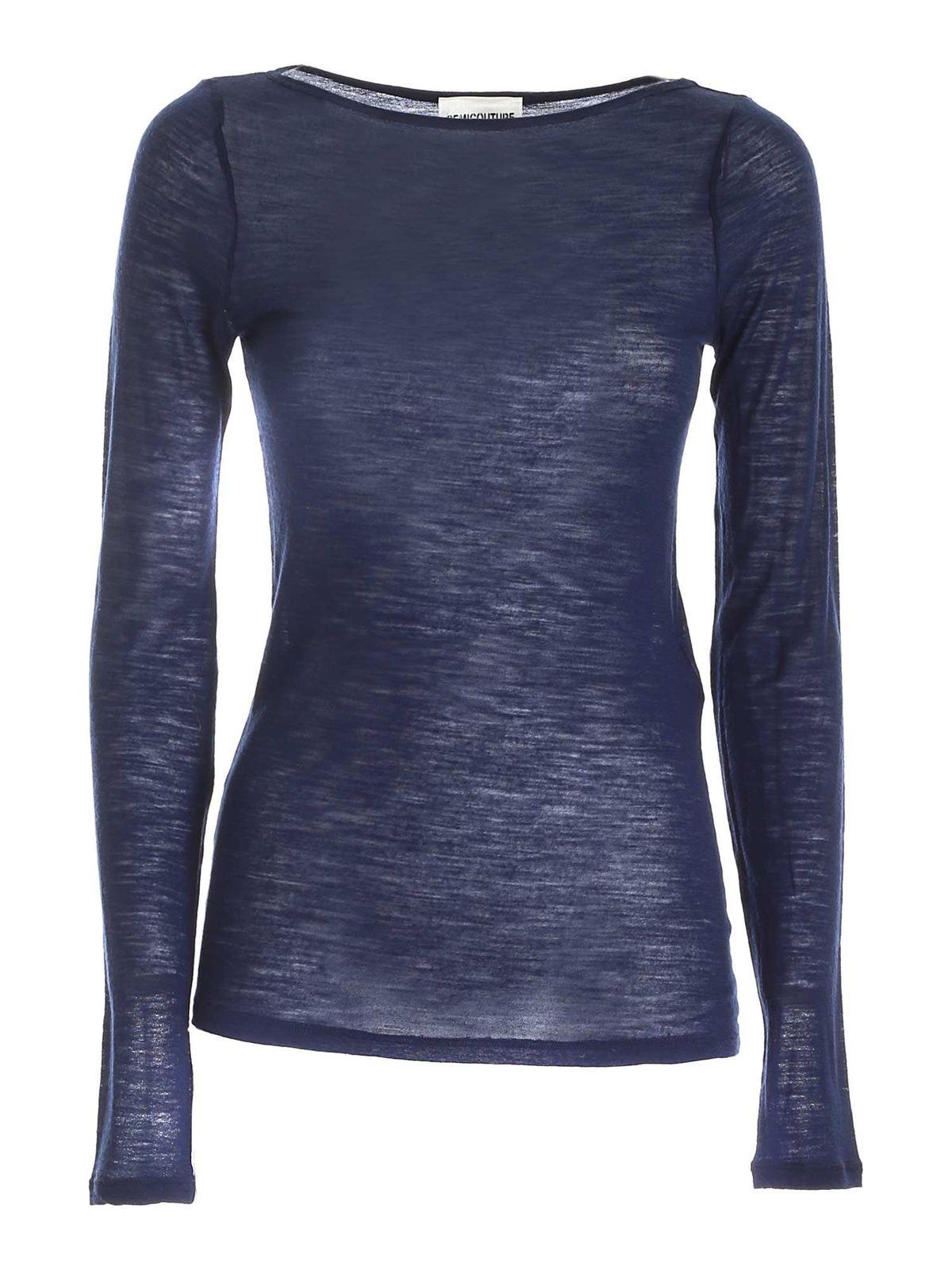 Semicouture BLANDINE T-SHIRT IN BLUE