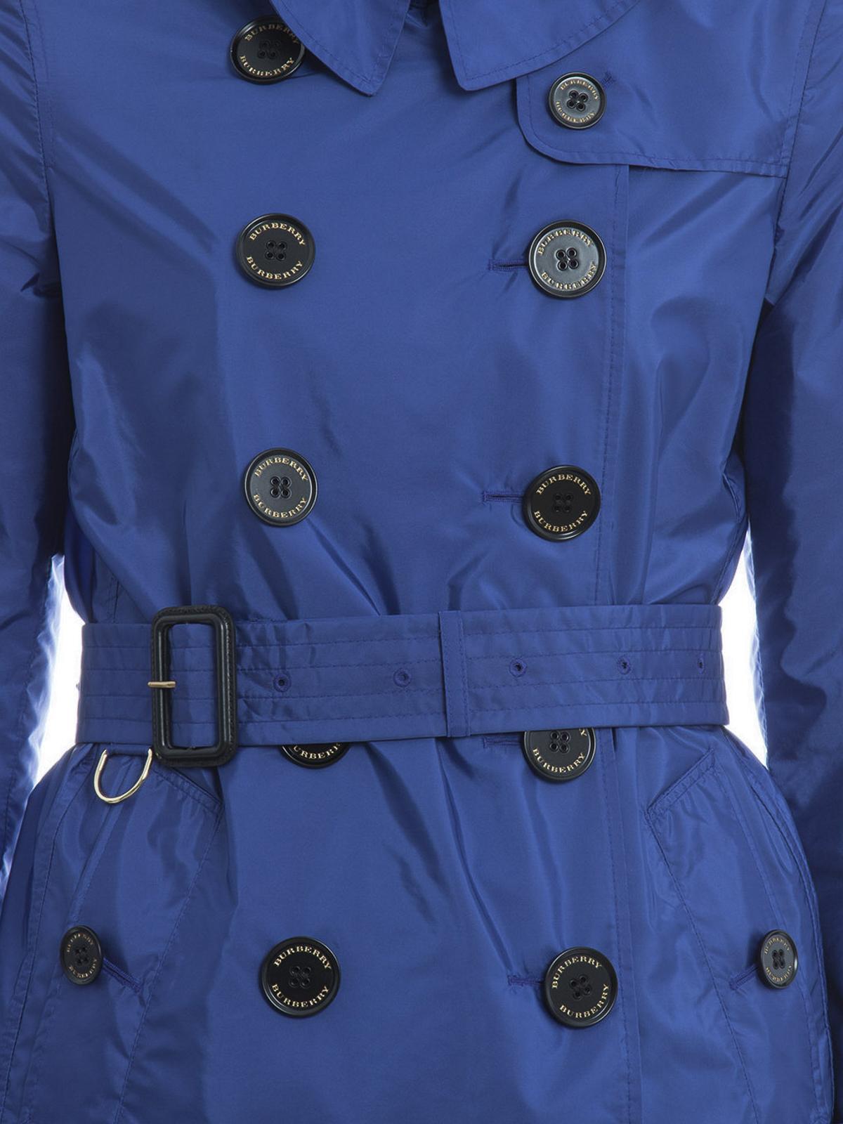 d6fb790ec613c Burberry - Trenchcoat Fur Damen - Blau - Trenchcoats - 4050368 ...