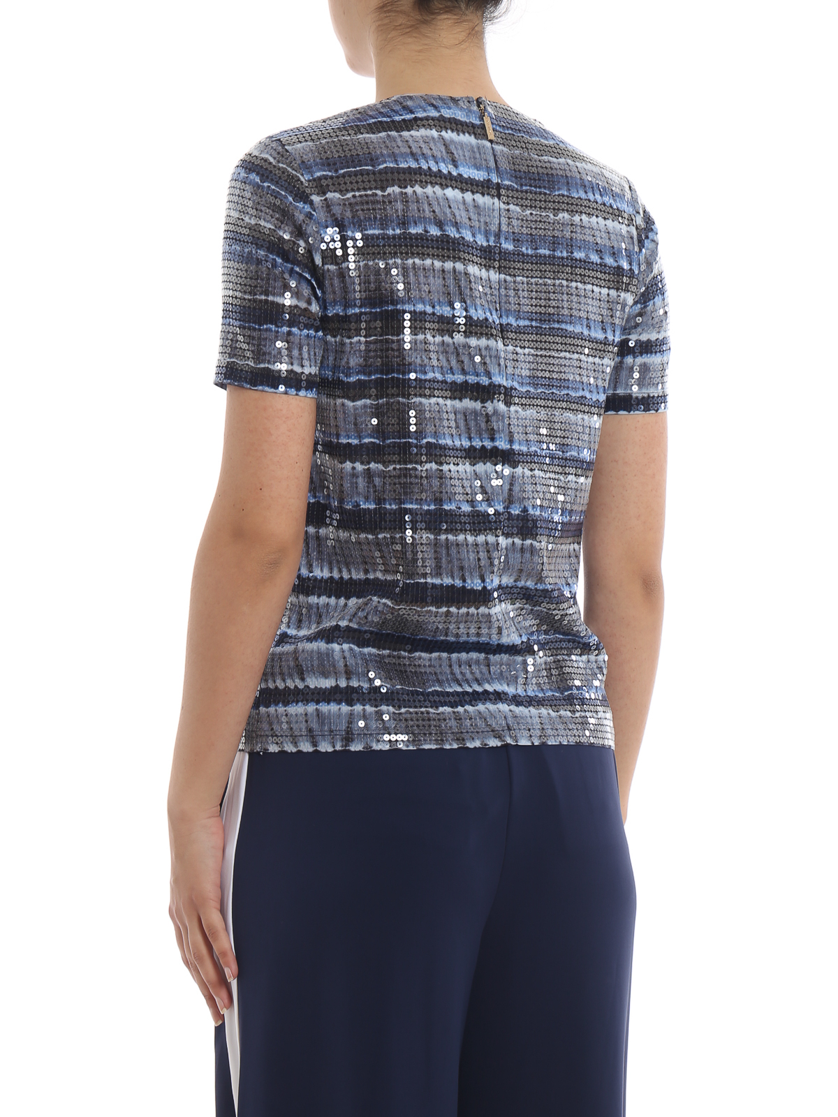 132b303eeb6 Michael Kors - Sequined striped T-shirt - t-shirts - MS95M38AZP789