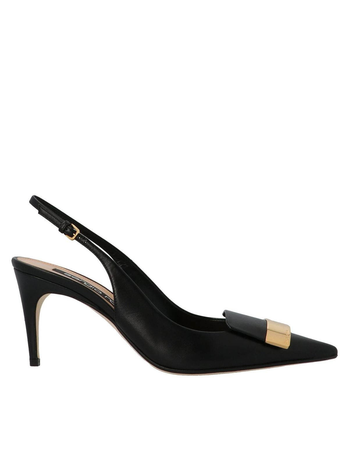 Sergio Rossi POINTED SLINGBACKS IN BLACK