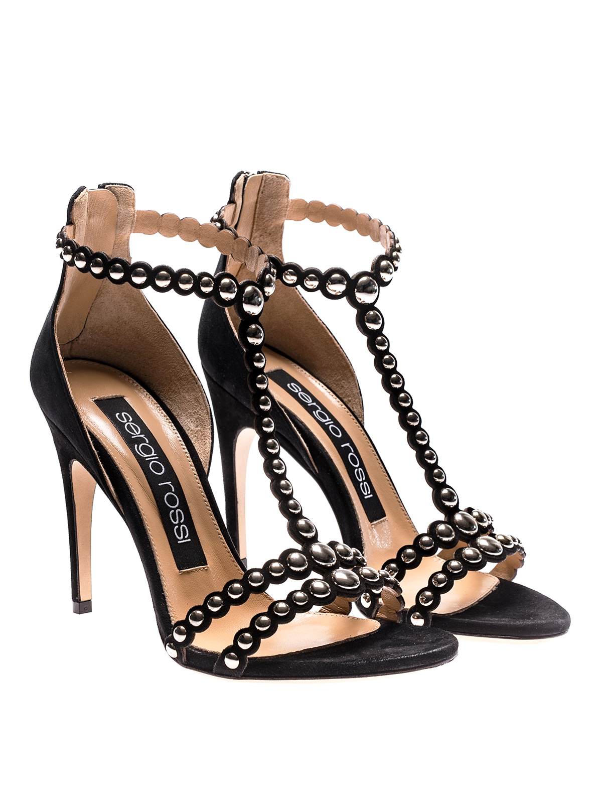 528b76ec89b10 SERGIO ROSSI  sandals online - Dafne stud embellished sandals