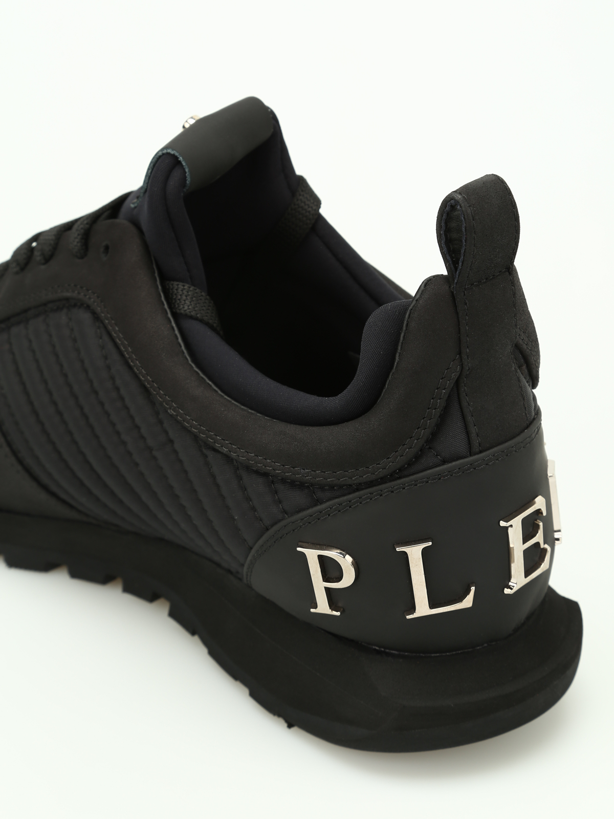 Philipp Plein Setting Quilted Sides Sneakers Trainers