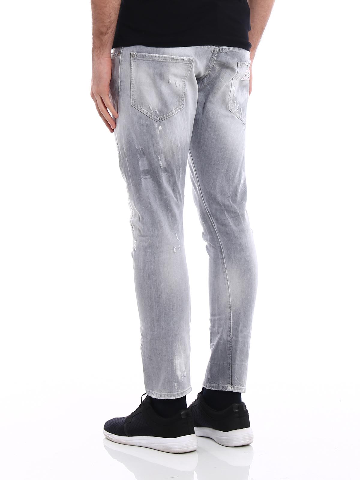 b95535008a356 Dsquared2 - Jeans Sexy Twist grigio chiaro - jeans skinny ...