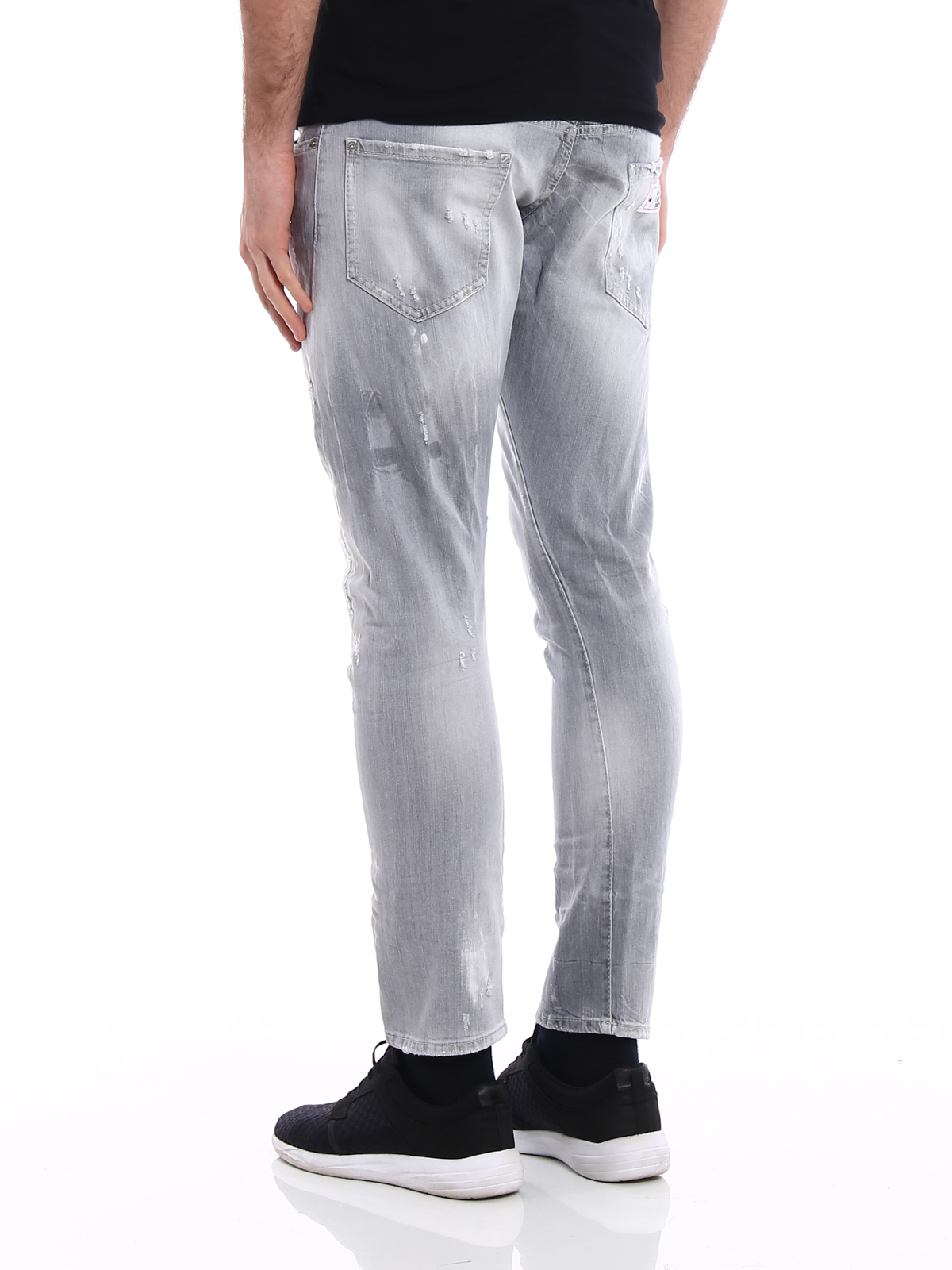 Sexy Twist light grey denim jeans shop online: Dsquared2