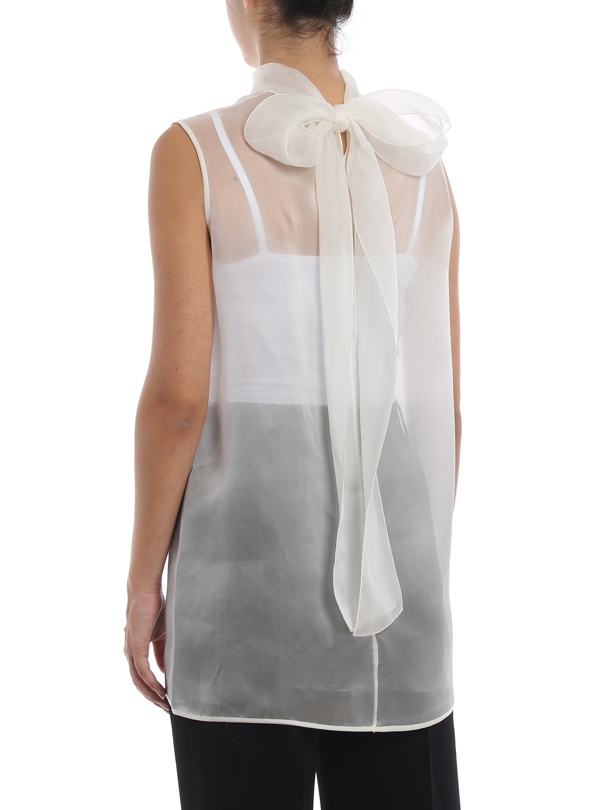 9d9538bf35945d Ermanno Scervino - Sheer off white silk organza blouse - blouses ...