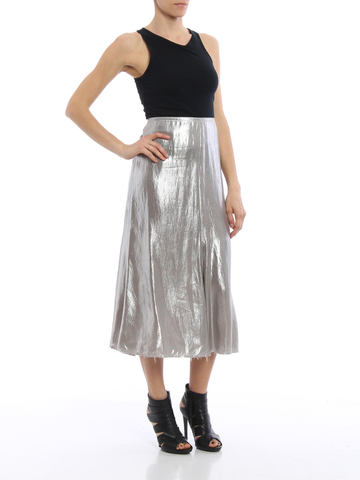 c2a634216 Golden Goose - Shimmering slip skirt - Knee length skirts & Midi ...