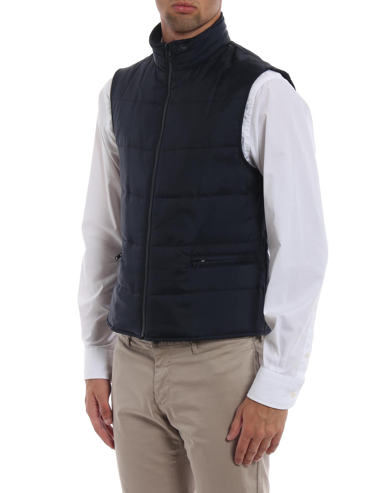 Fay - Cappotto in lana spigata con gilet staccabile - cappotti corti ... 59832335862