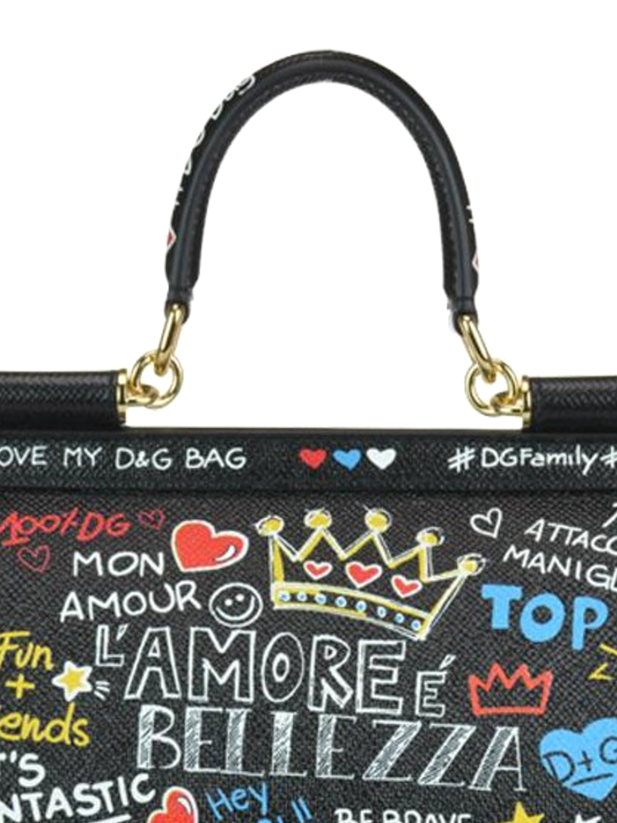 Sicily mural printed Dauphine leather bag shop online  DOLCE   GABBANA 31daccea94d0f