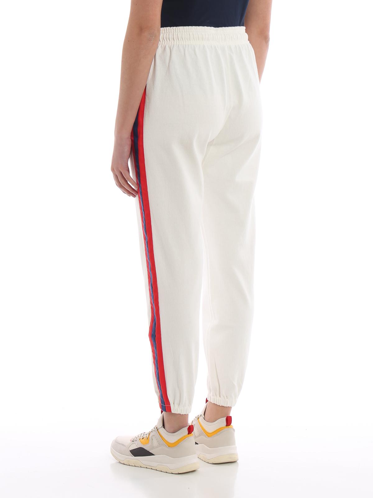 detailed look 1cc7c c6507 Polo Ralph Lauren - Pantaloni da tuta in cotone bianco con ...