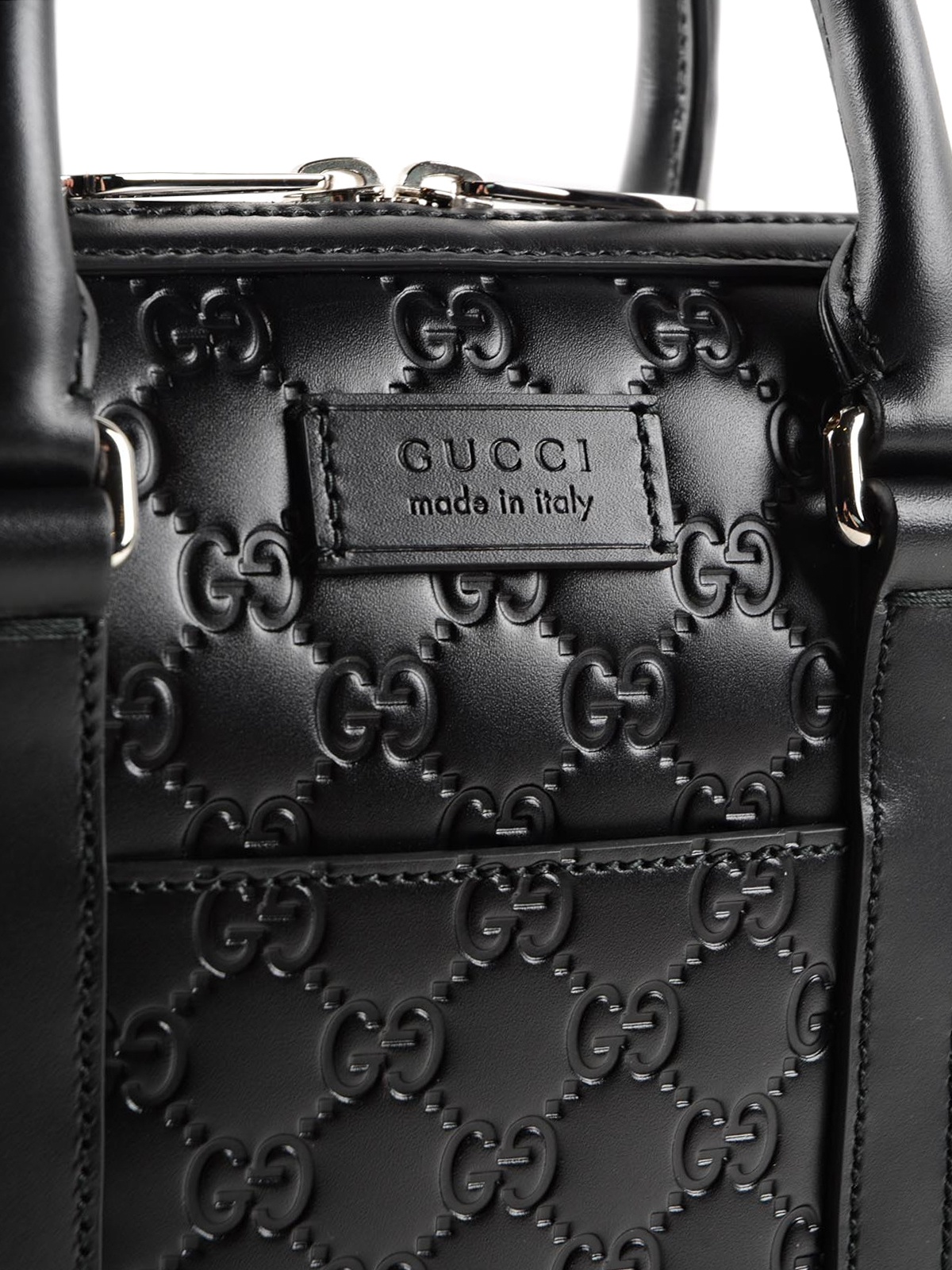 db8eb402e930 Gucci - Signature leather small briefcase - laptop bags & briefcases ...