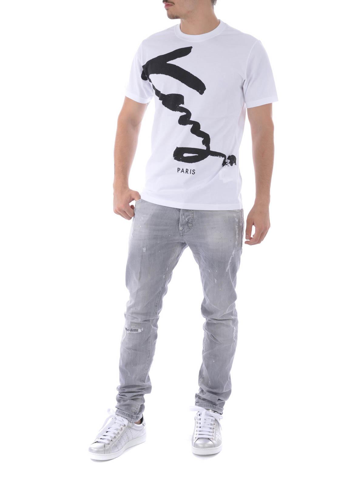 kenzo signature t shirt in single jersey t shirts f665ts0184sc01. Black Bedroom Furniture Sets. Home Design Ideas