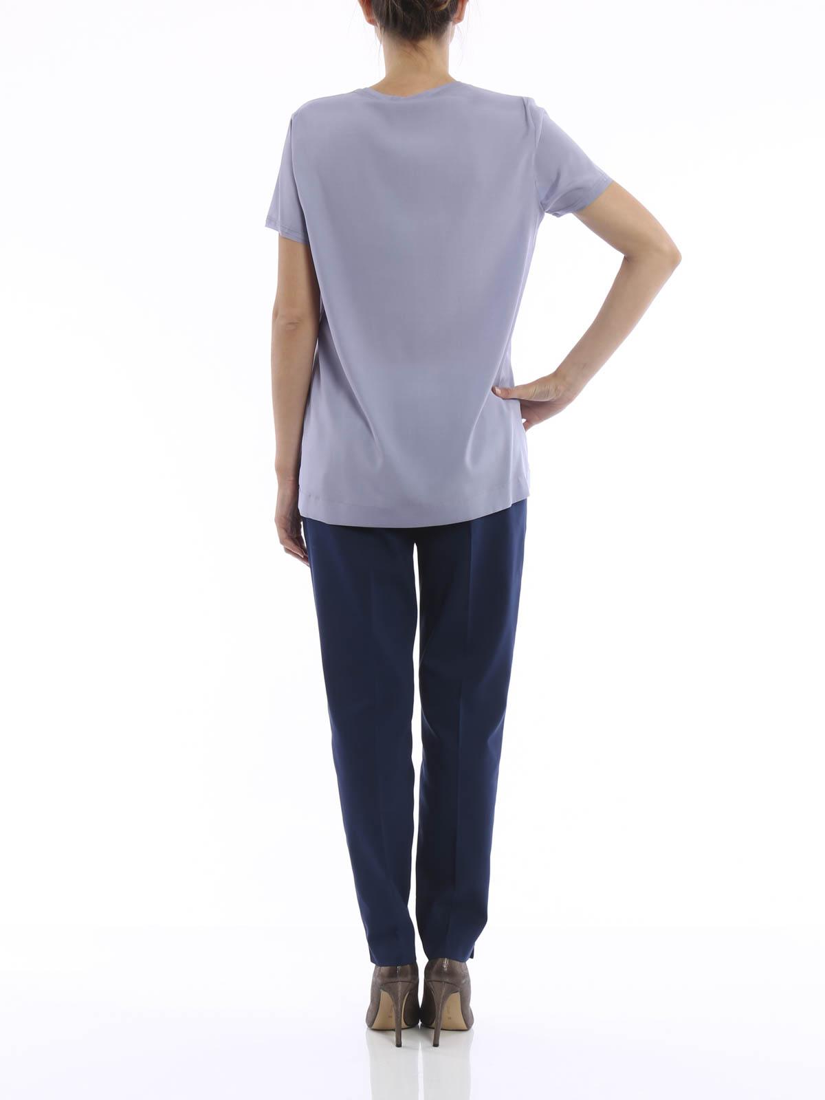 Silk T Shirt By Paolo Fiorillo Capri T Shirts Ikrix