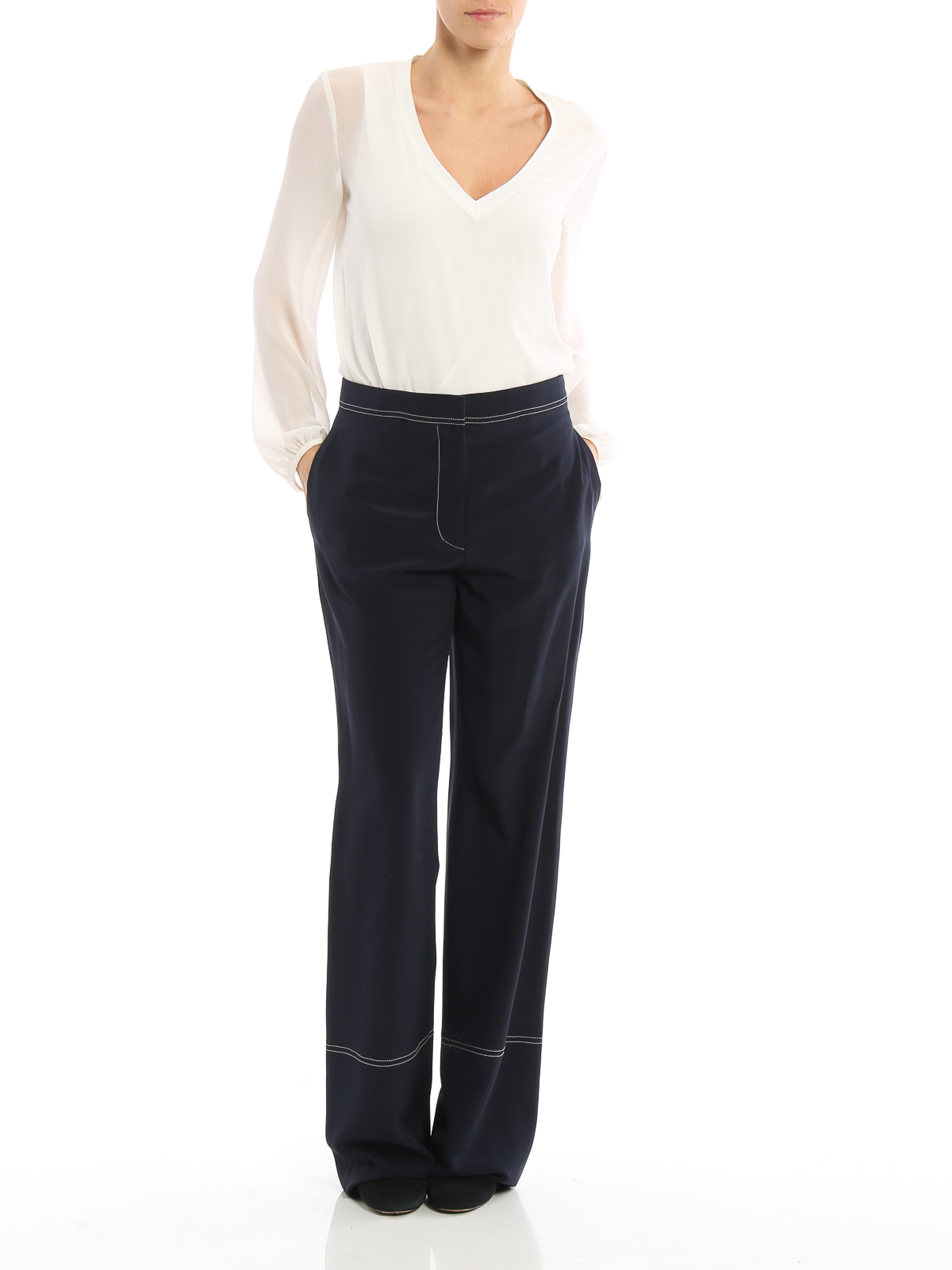 Stella McCartney wide-leg silk trousers Outlet New Buy Cheap Shop For Find Great For Sale Browse Sale Online hSe6Ukja
