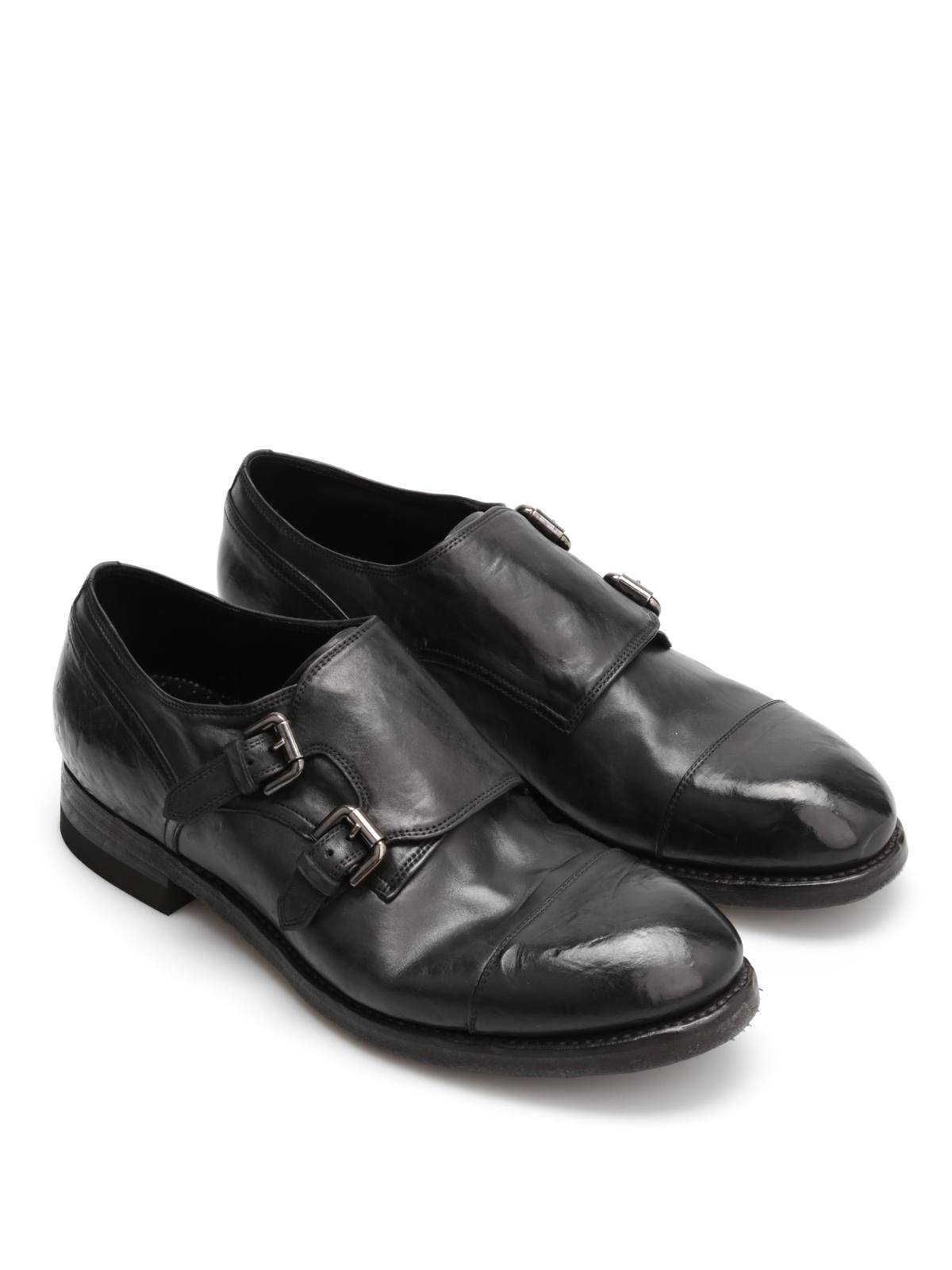 info for 08ed9 e9d3e Silvano Sassetti - Monk strap in cuoio vintage - scarpe ...