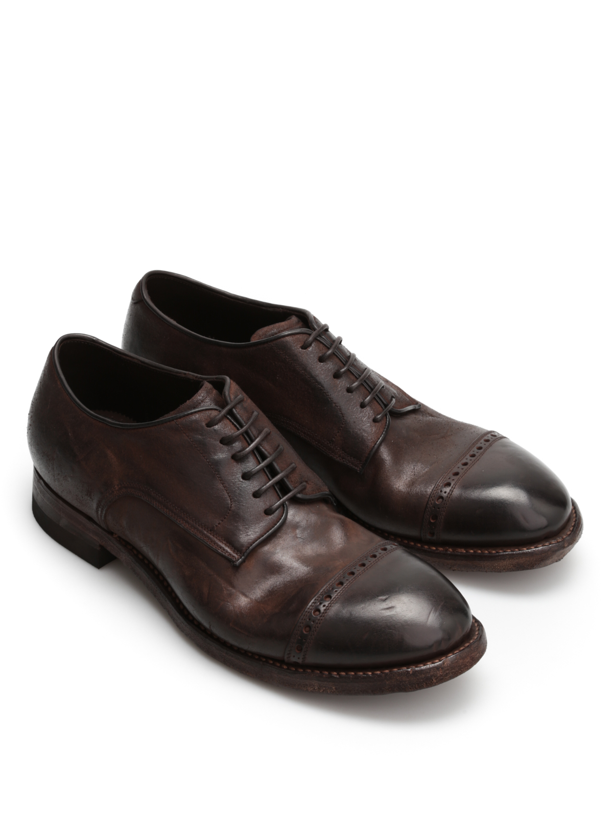 new product f8a0b 77637 Silvano Sassetti - Distressed derby shoes - lace-ups shoes ...