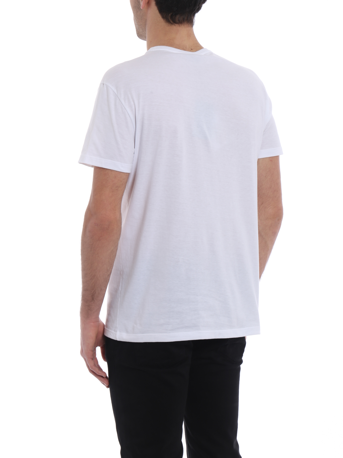 6c1018084 Alexander Mcqueen - Skull patchwork print white T-shirt - t-shirts ...