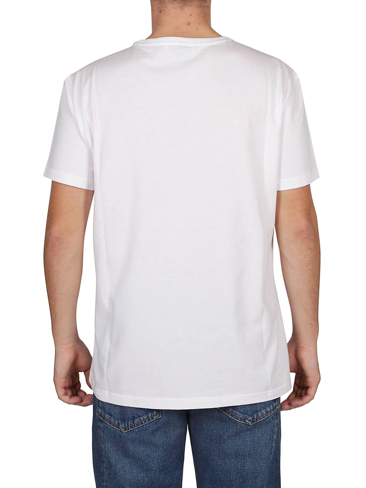 a8405bcf7 Alexander Mcqueen - Skull Patchwork white T-shirt - t-shirts ...