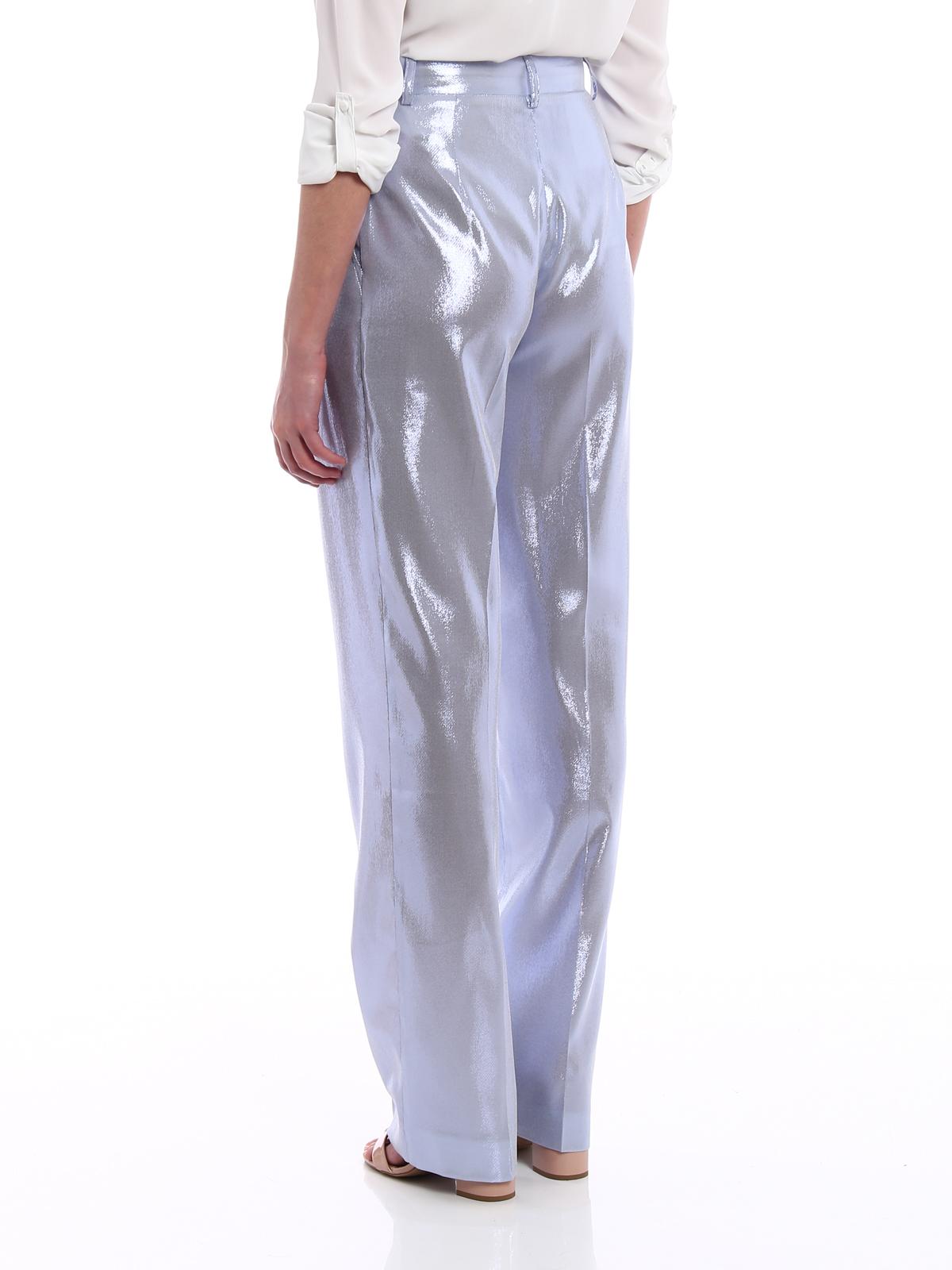 Cielo In Lamé Azzurro Pantaloni Alberta Ferretti qxvEXpw