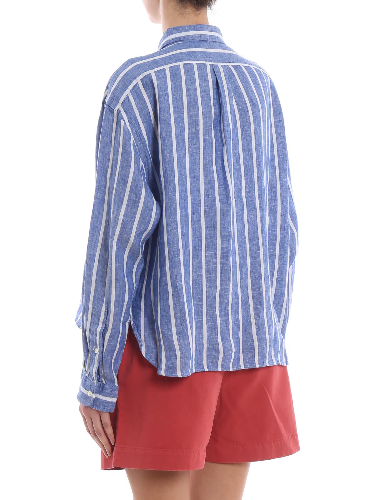 4bee8b85a Polo Ralph Lauren - Sky blue striped linen shirt - shirts - 211732640001