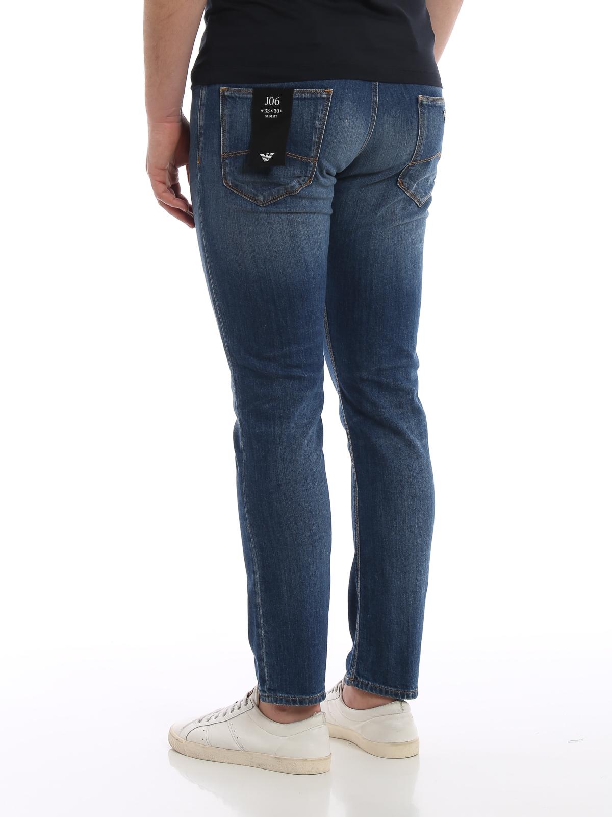 0ca2ad6f3c Emporio Armani - Slim fit five pocket denim jeans - straight leg ...