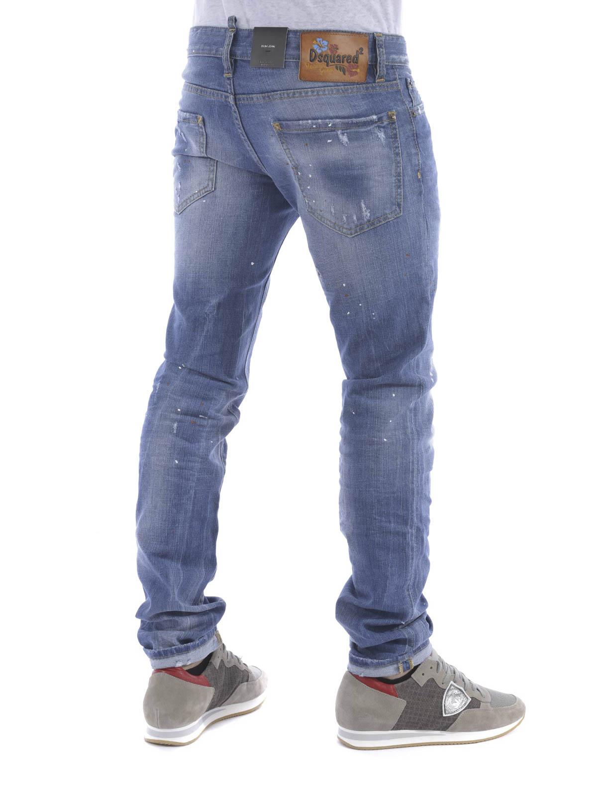 a2b6242b13 Dsquared2 - Slim jeans - straight leg jeans - S71LB0090 S30144-470