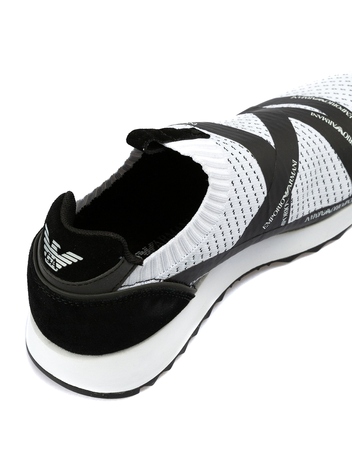 e745ecff Emporio Armani - Slip on stretch tech fabric sneakers - trainers ...