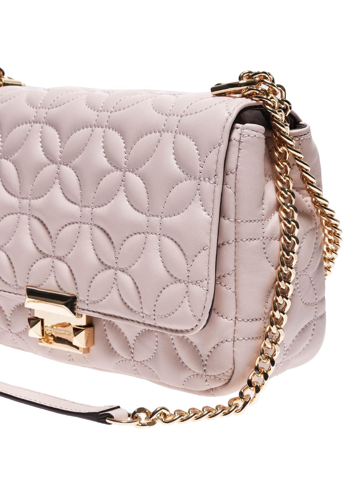 6b4c4119ef51 Michael Kors - Sloan large pink quilted shoulder bag - shoulder bags ...