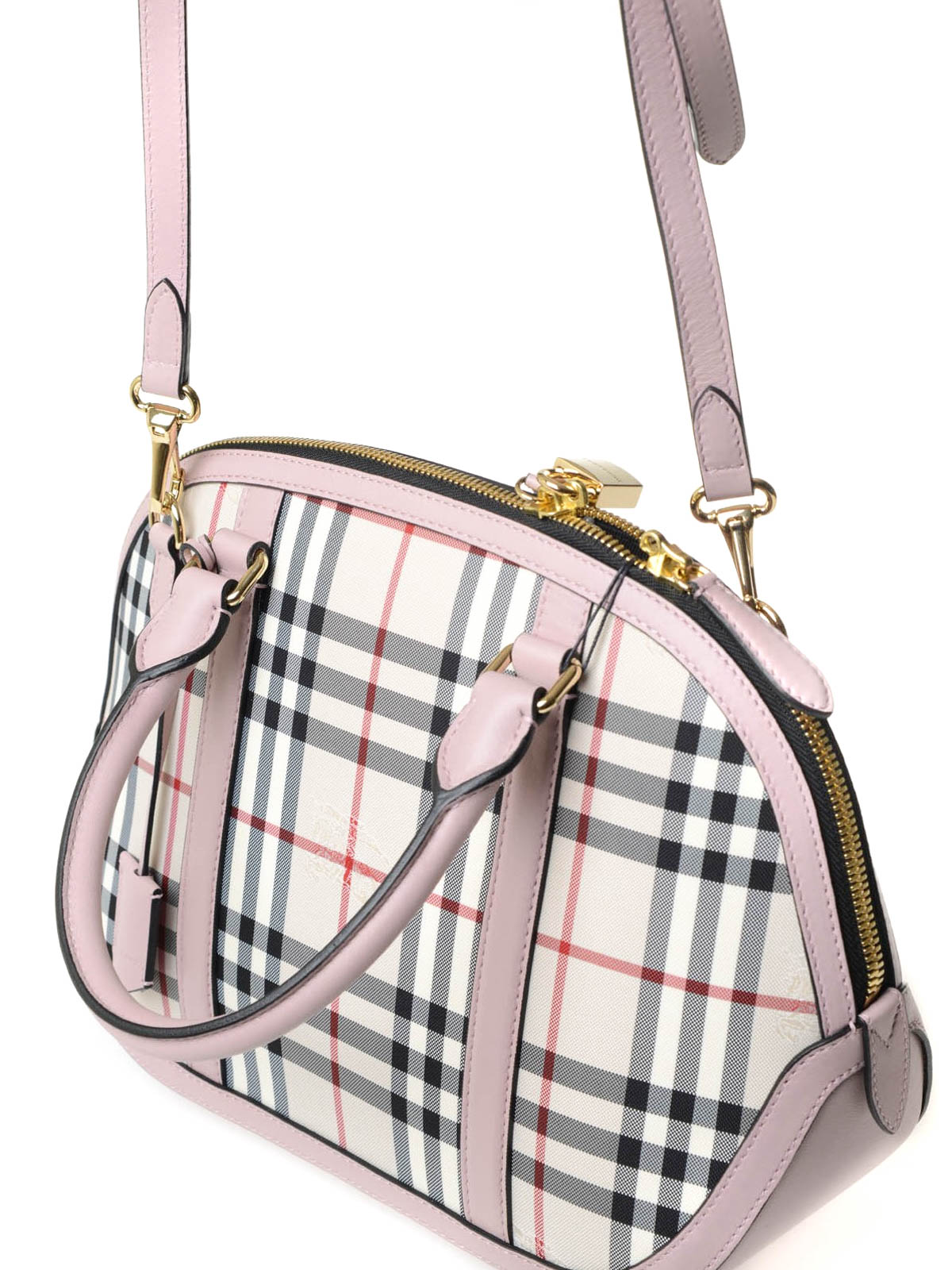 be1bf06d4667 Burberry - Small Orchard check bowling bag - bowling bags - 4004358 ...