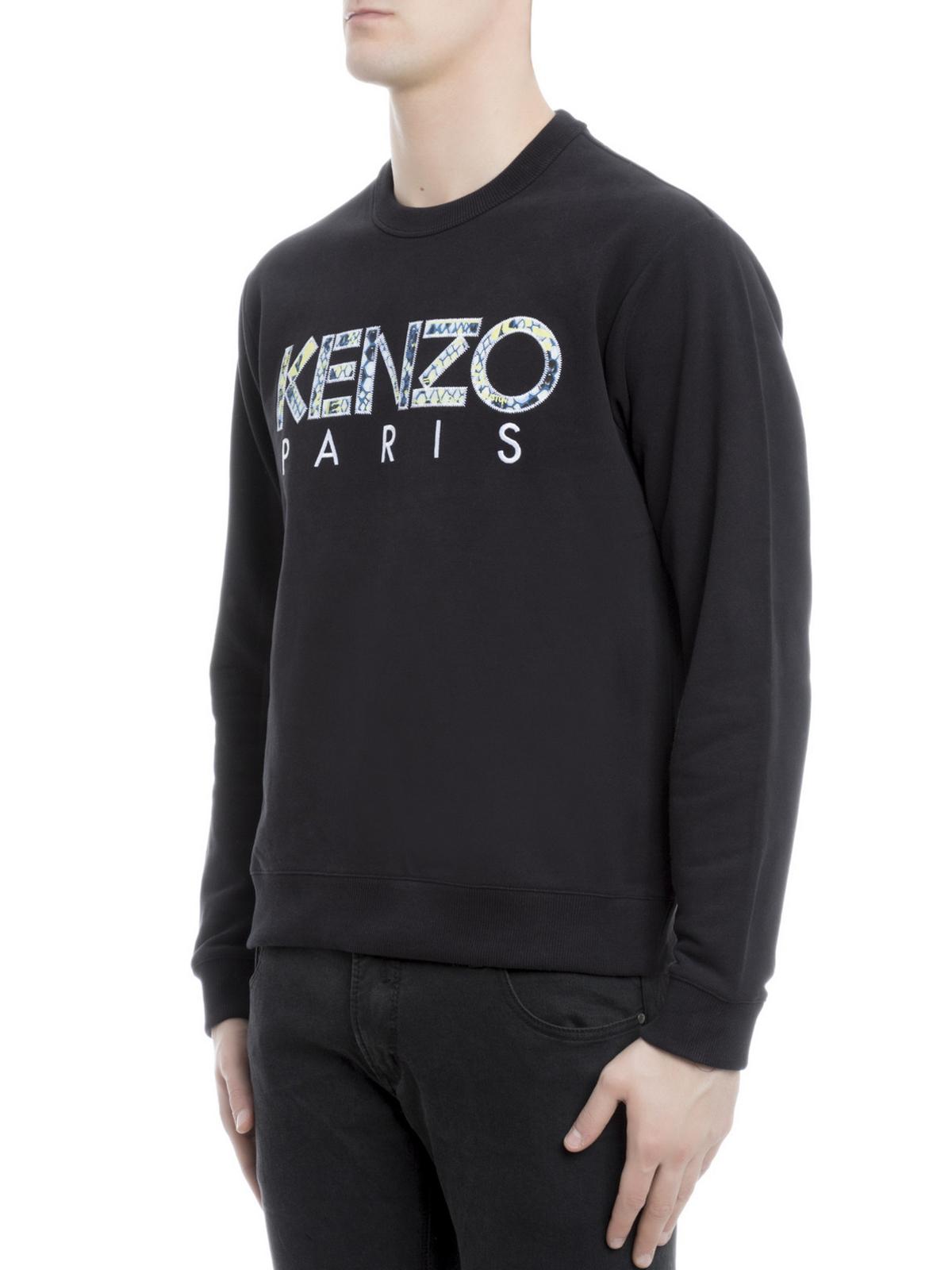 1fe1239ed Kenzo - Snake Flyer print logo sweatshirt - Sweatshirts & Sweaters ...