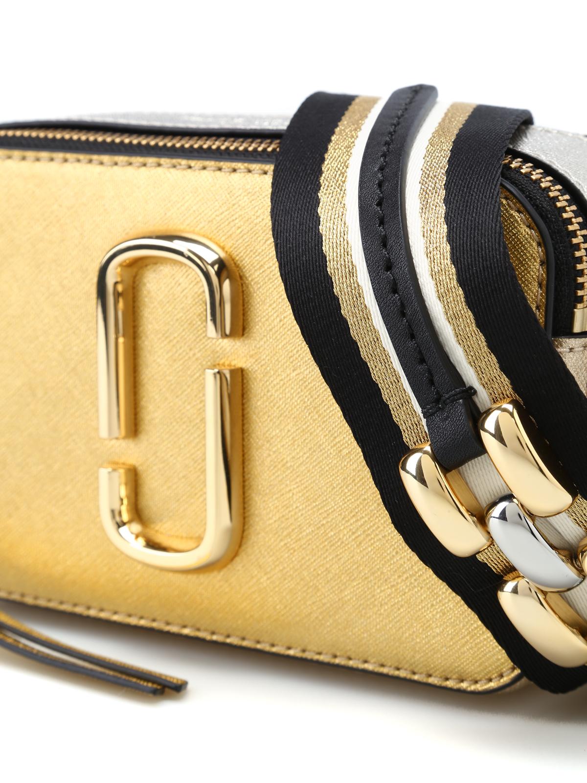 53edcc4dc34 Marc Jacobs - Snapshot metallic leather small bag - cross body bags ...