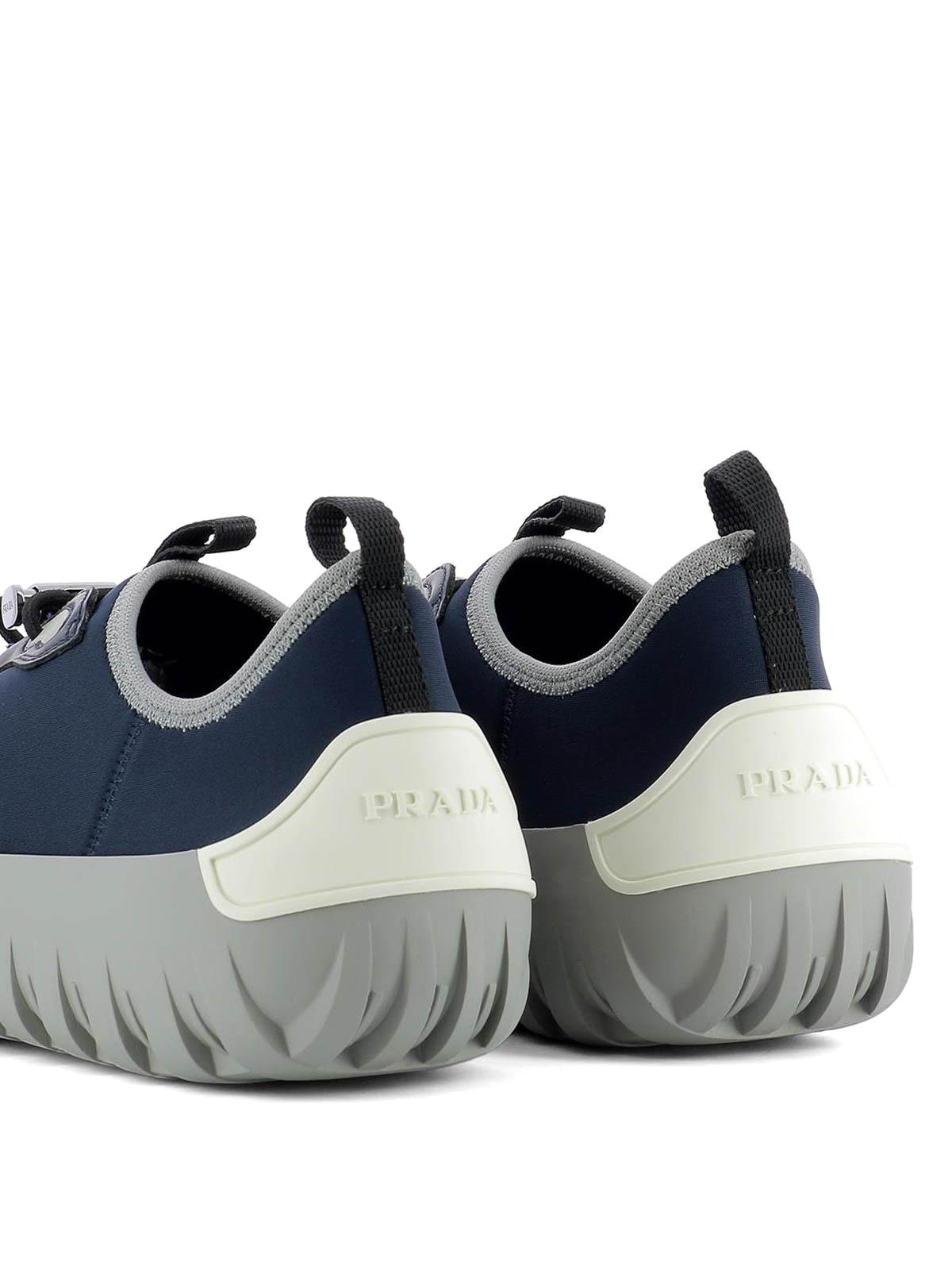 Sock style blue neoprene sneakers