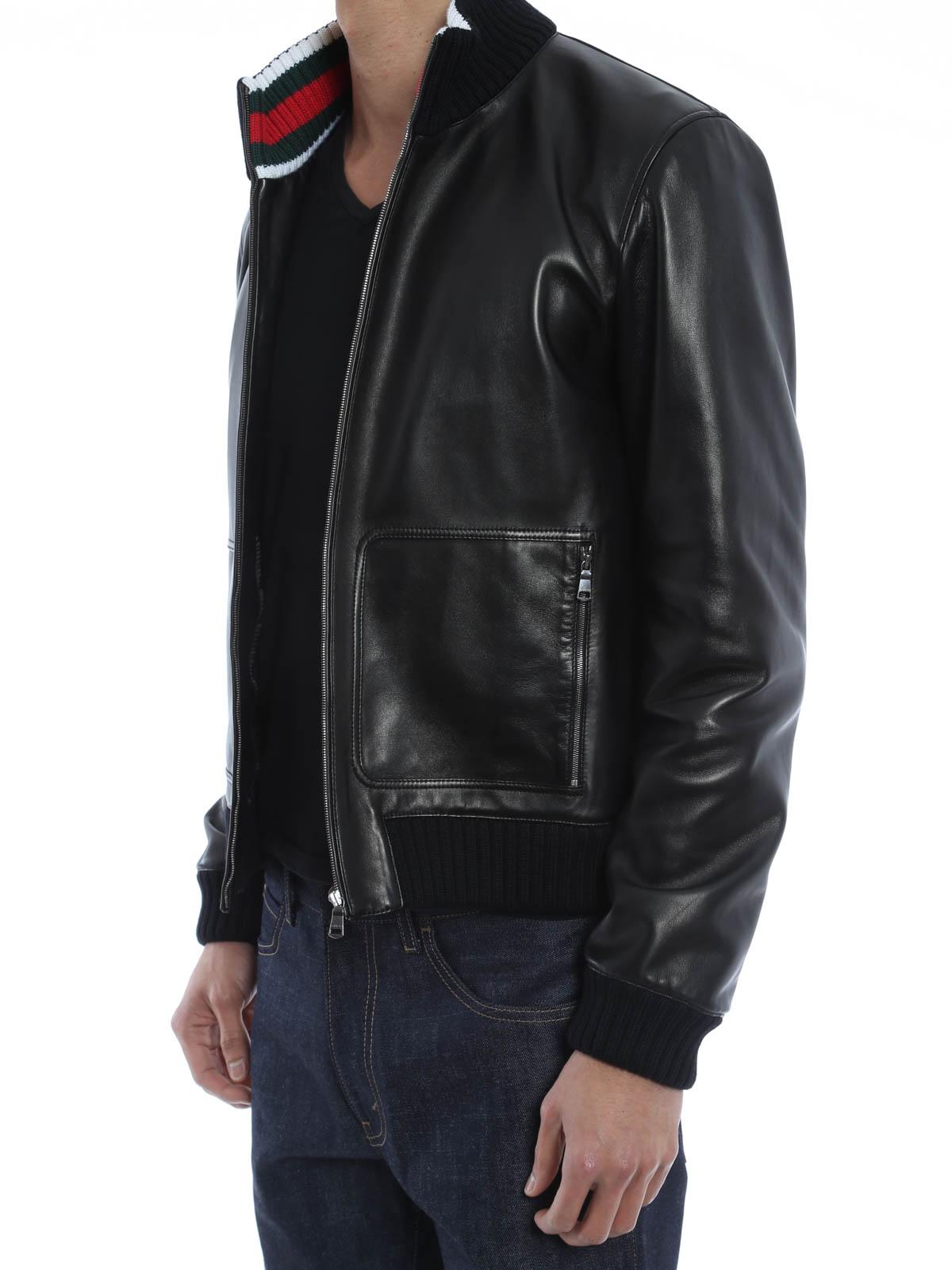 Soft Leather Bomber Jacket - JacketIn