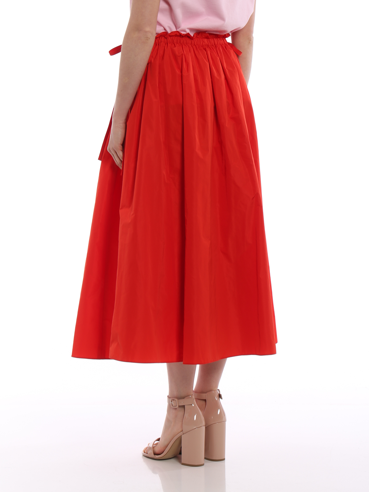 6de3371599 Solid red satin circle long skirt shop online: KENZO. KENZO buy online  Solid red satin circle long skirt. KENZO: Knee length skirts ...