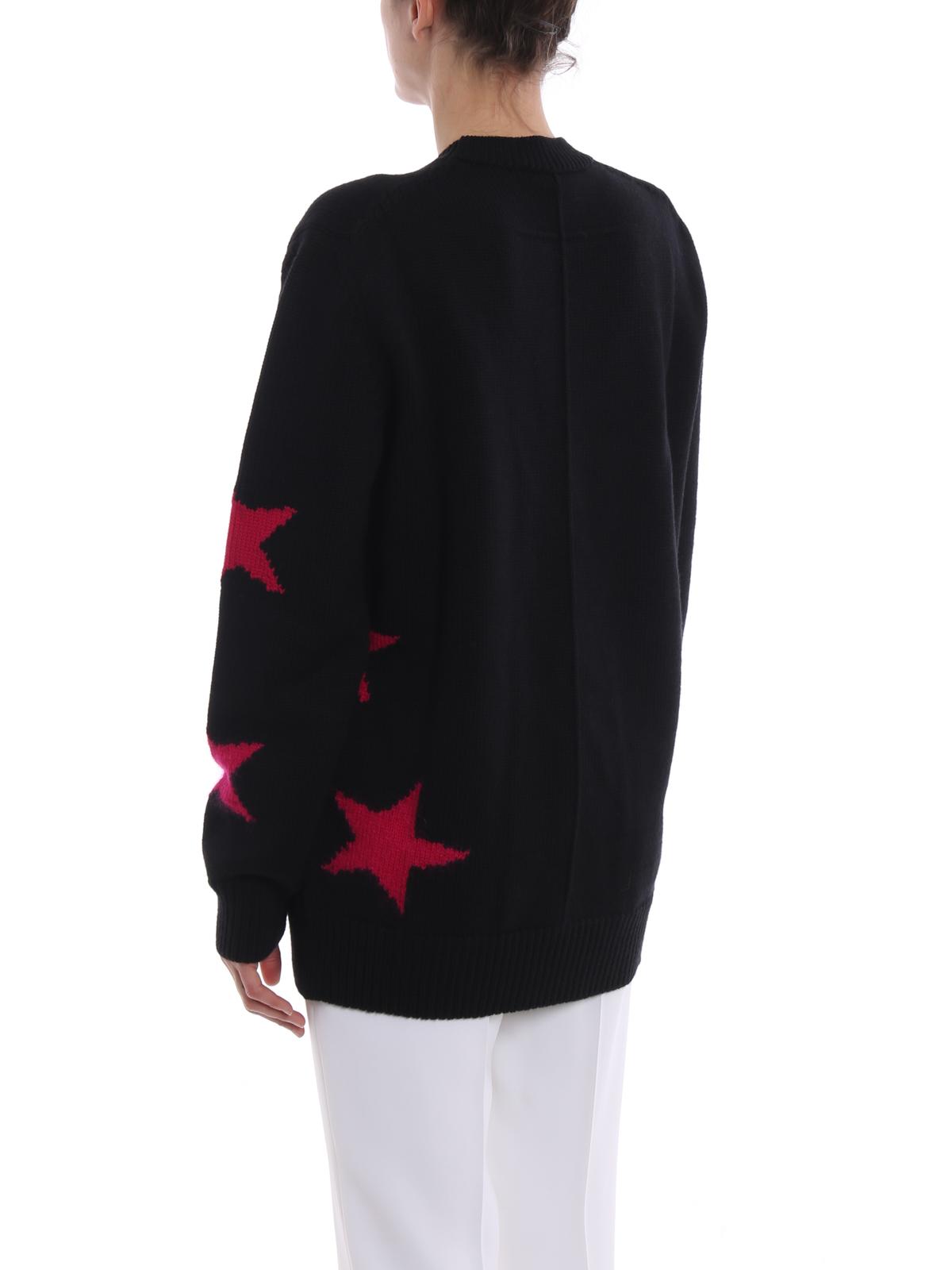 14a86d3bdf882 Givenchy - Star intarsia wool oversize sweater - crew necks ...