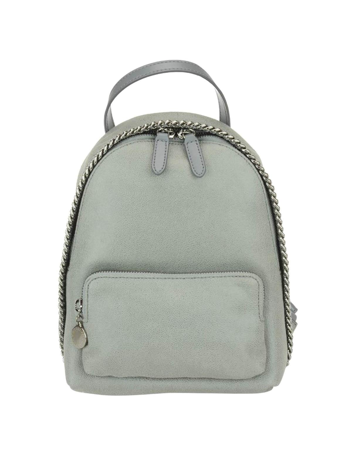 61cdcaa78c Stella Mccartney - Falabella light grey mini backpack - backpacks ...