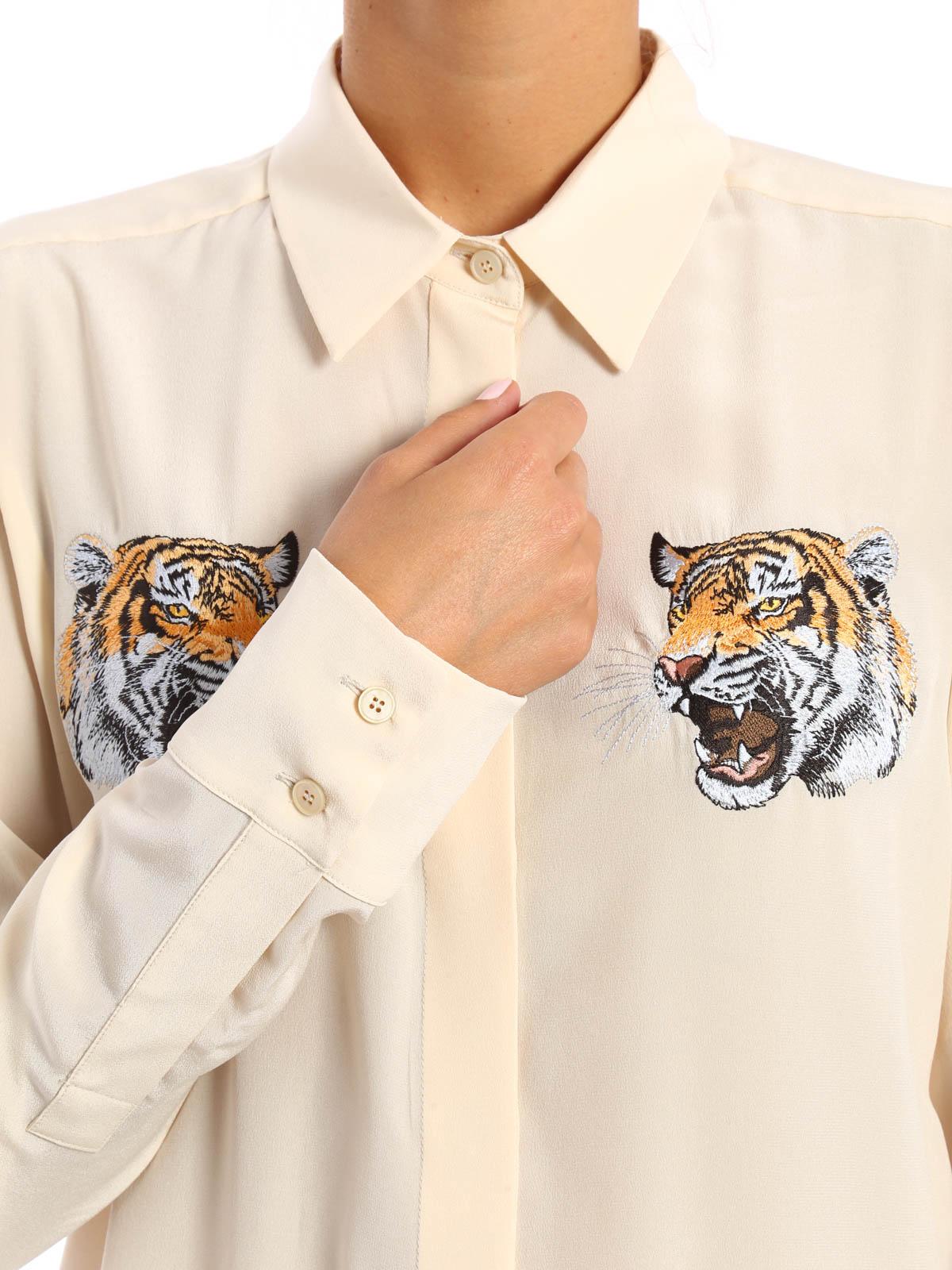5481b48876 Stella Mccartney - Arlo embroidered silk shirt - shirts ...