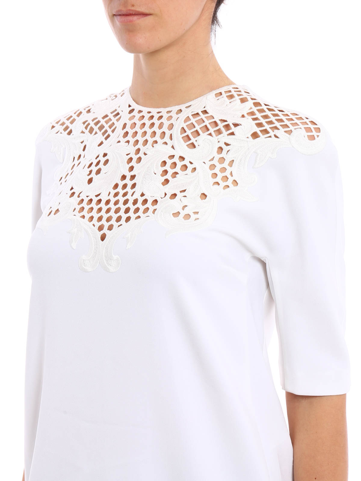 Embroidered cady t shirt by stella mccartney shirts