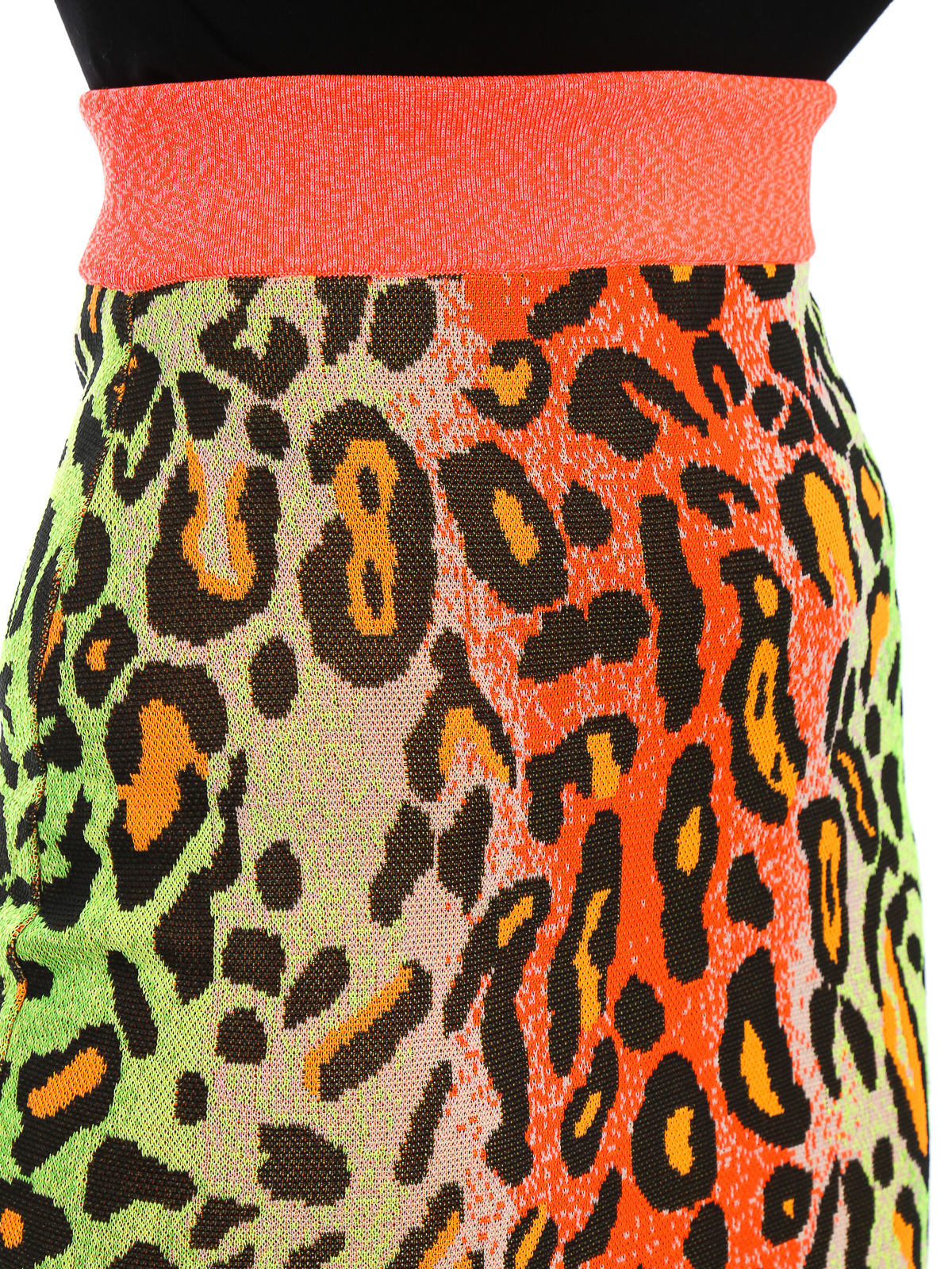 36f56205c7 STELLA McCARTNEY buy online Fluo leopard print pencil skirt. STELLA  McCARTNEY: Knee length skirts & Midi ...